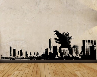 Godzilla Design Decal Wall Sticker 200cm x 58cm