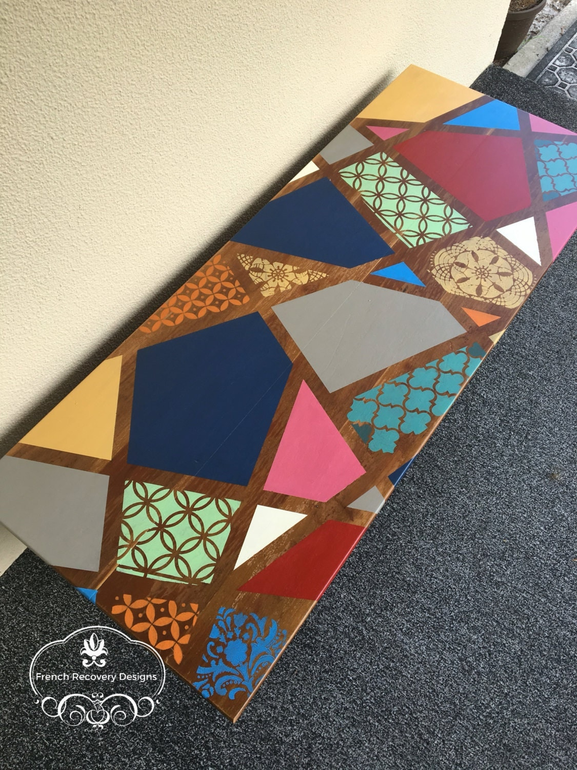 Colorful Chalk Paint Coffee Table