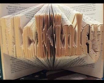 Custom Made Folded Book Art!