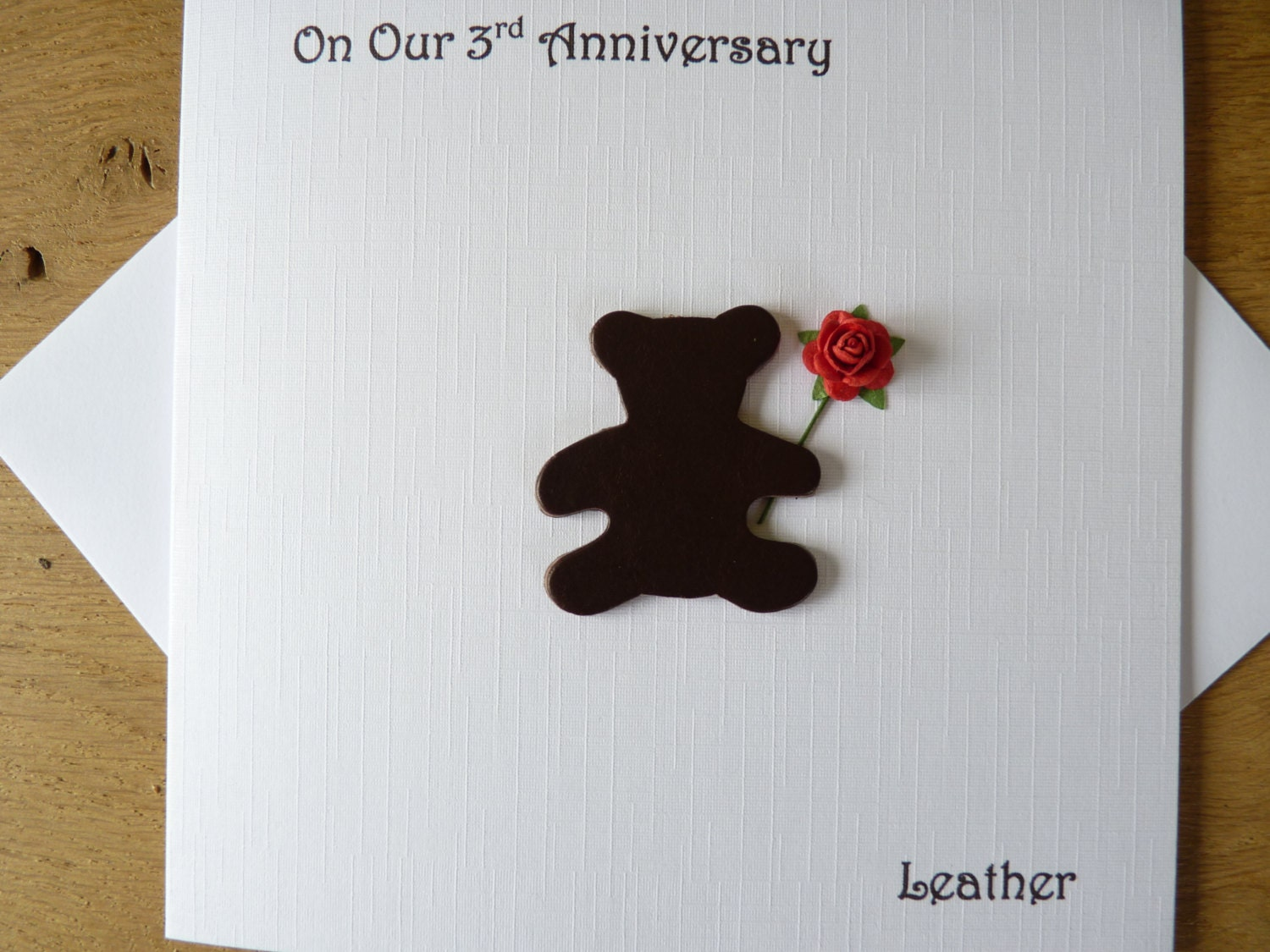 What Is 3rd Wedding Anniversary Gift: 3rd Wedding Anniversary Card Three Years By DeshcaDesignsCards