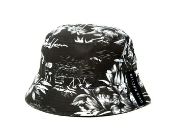 Palm tree bucket cap. Made in America.
