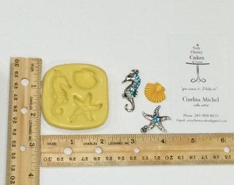 Seahorse and Starfish Mold Small