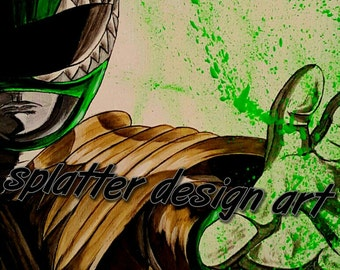 8x10 Green Ranger art print on professional luster photo paper