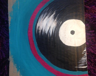 vinyl - blue background