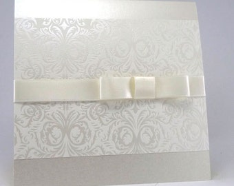 ELEGANT HANDMADE Wedding Invitations – SAMPLE