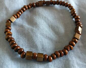 Wood Elastic Bracelet / Braccialetto Elastico legno