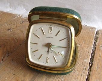 Vintage German Europa Traveling Alarm Clock
