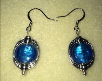 Vintage inspired turquoise earrings