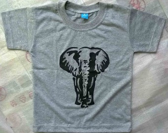 Hand Painted Elephant T-shirt for Boys