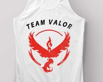 Pokemon Go Shirt Team Valor Tank Top Black and White Size S M L XL