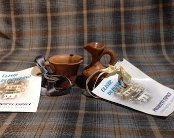 Vintage Italian handmade pottery/terra-cotta miniature pottery