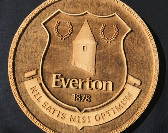 Everton FC Wooden Plaque
