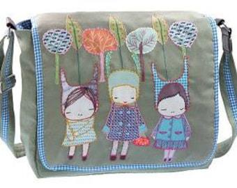 """Canvas shoulder bag """"Girls"""""""