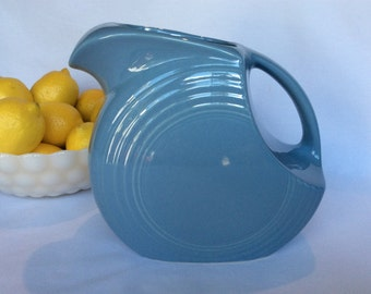 Fiestaware Pitcher, Disc Pitcher, Periwinkle Blue, 64 oz