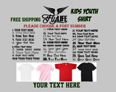 Kids Youth Shirts | Your Text Here | Free Shipping | Customize T-Shirt | Your Design Here | Personalize Kids Tee | Kids Customize T-Shirt