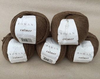 5 balls Rowan Calmer yarn
