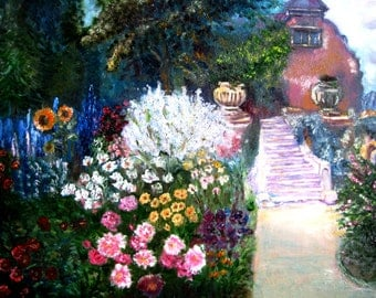 """The painting """"The Old Garden"""