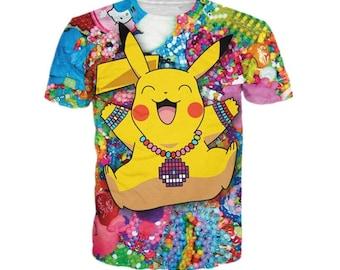 3D printed shirt, Pikachu pokemon shirt high quality, short sleeve shirt unisex t shirt casual man women shirt
