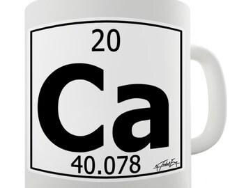 Periodic Table Of Elements Ca Calcium Ceramic Mug