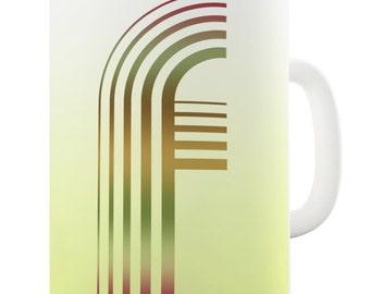 Letter F Alphabet Ceramic Mug