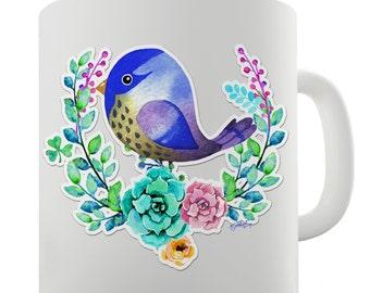 Pop Art Starling Bird Ceramic Funny Mug