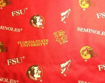 Florida State Seminoles cotton fabric