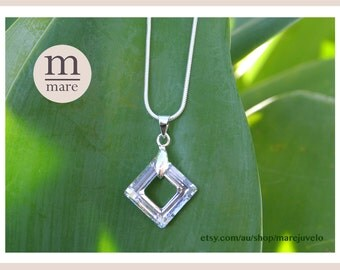 Square crystal necklace - SALE