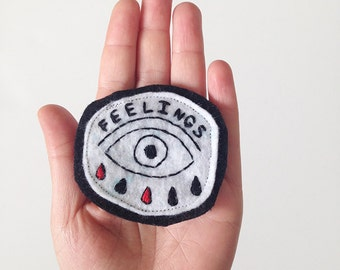 Crying Feelings Patch, embroidered