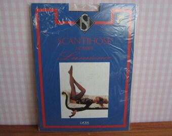 Deadstock Vintage Scantihose Lumience Black Size A Hosiery Hose Stockings Tights Garter Belt Scantibelt Lycra Suspender Legwear Lingerie 90s