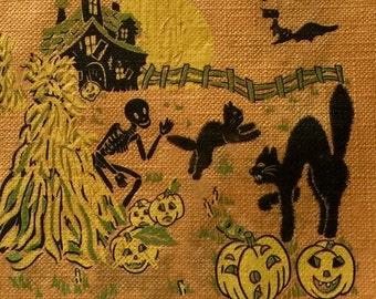 Vintage 1950's Halloween Paper Napkin