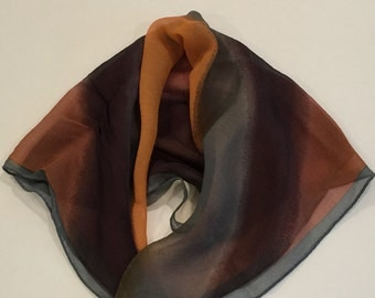 Vintage  Anne Klein Scarf, 100% Silk Scarf, Vintage Signed Scarf