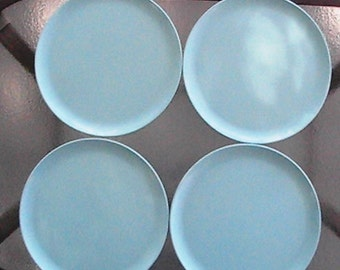 Set of 4 vintage Melmac dinner plates