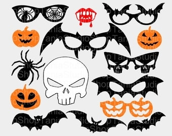 Halloween Photo Booth Props - Studio3, Svg, Dxf - Commercial Use Ok - Silhouette Cameo - Cricut - Vinyl Projects – Diy
