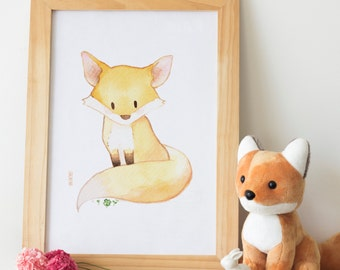 Fox - Woodland Animal Nursery Print