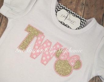 Custom Onesie/ Tshirt Minnie Two