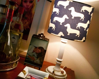 Lampshade of Wiener Dog Dachshound hunting