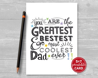 Printable father card  Etsy