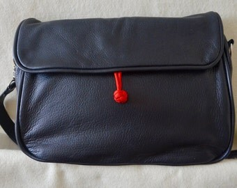 One of a Kind black Handbag with suede lining