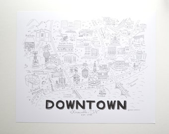 Downtown Knoxville Print