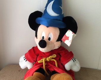 """Mickey Mouse Sorcerer, with tag, used 20"""" tall"""