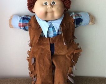 Cabbage Patch Kids Cowboy, complete outfit, 1985