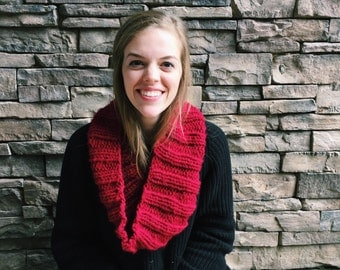 Infinity Scarf //  Cranberry // Made to Order