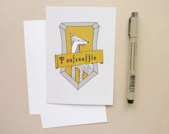 Hufflepuff - postcard - illustration youth - Harry Potter - Hufflepuff