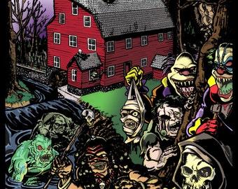 18th Annual Haunted Village Print
