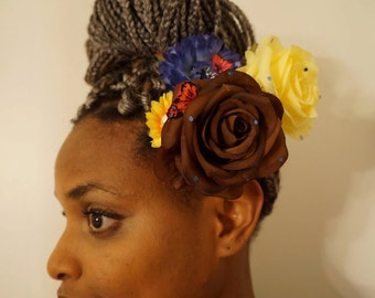 Flower Butterfly Hair Clip | Burlesque Pin-Up Fairy