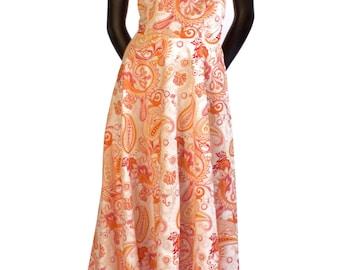 Paisley Print Full Length Sun Dress - 15-009