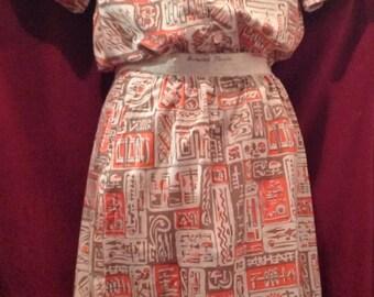 1950s LADIES 2 Piece Skirt , Blouse SUIT / make - Harwood Steiger - Nine Wives
