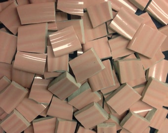 PINK mosaic tile- 110 pcs-ceramic broken plate tile-pique assiette-tessera-id*133
