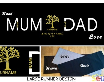 Personalised 'Best Mum&Dad Ever' Machine Washable Mats - available in 2 sizes