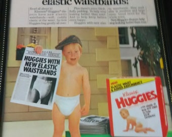 Vintage Huggies Ad